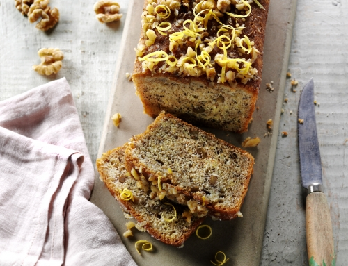Lemon & California Walnut Drizzle Cake