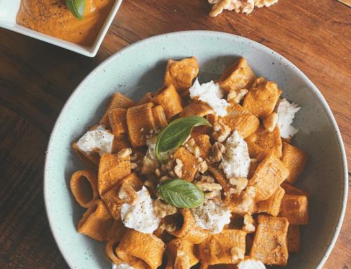 Walnut & Pepper Pesto Pasta by Nic's Nutrition