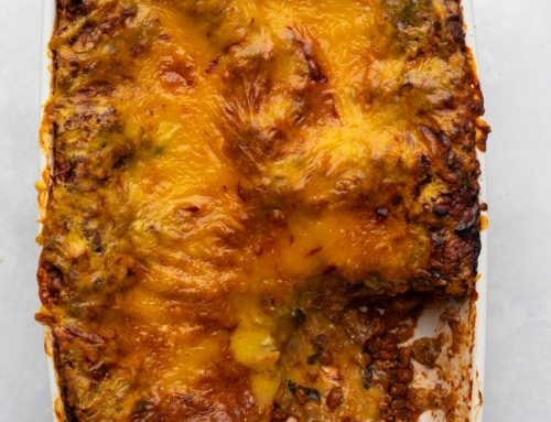 Meat-Free California Walnut Mince Lasagne by Healthy Living James