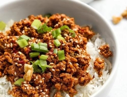Korean California Walnut Bowl by Nadia's Healthy Kitchen