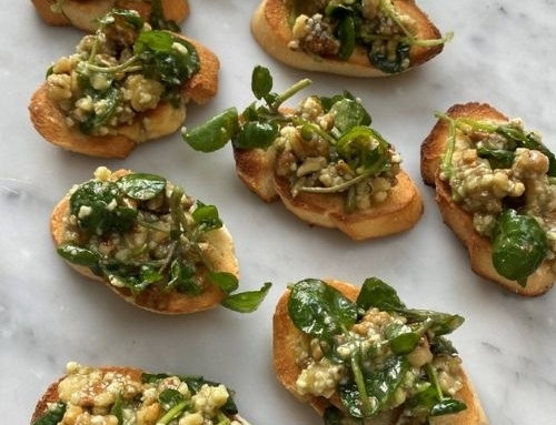 Bruschetta with California Walnuts and Stilton Pesto by Lisa Faulkner