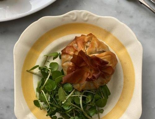 Butternut Squash Sage Onion and California Walnut Filo Parcels by Lisa Faulkner