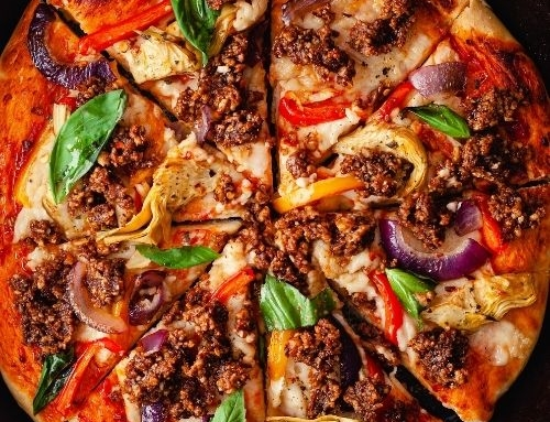 BBQ California Walnut 'Meat' Pizza by So Vegan