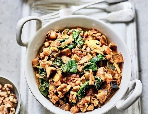 Walnut, Aubergine & Mushroom Keema Curry